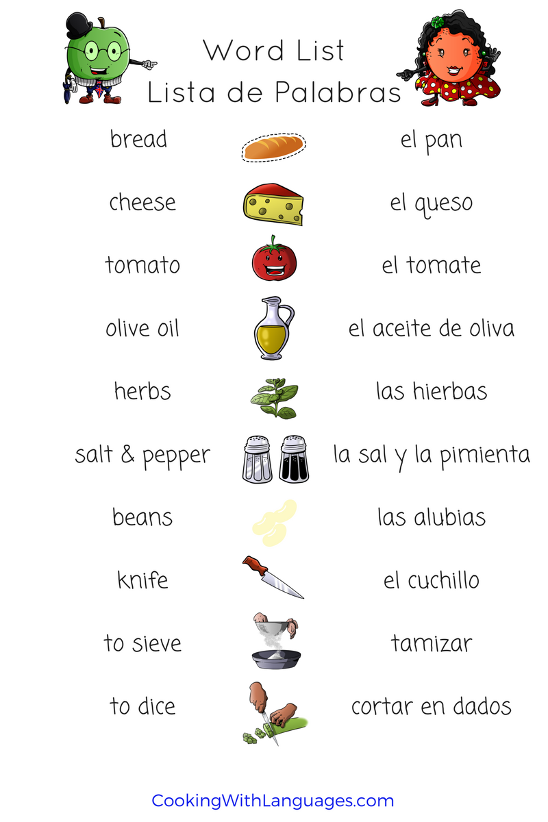 spanish cooking vocab
