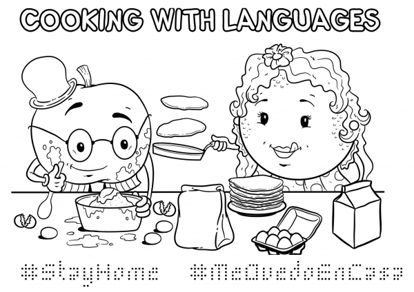 #StayHome Colouring Page
